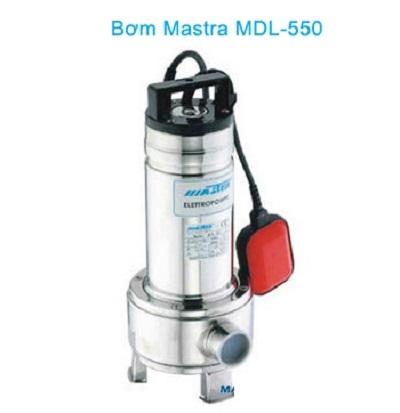 Máy bơm chìm nước thải Inox MASTRA MDL 550 (750w)